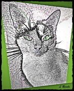 Kittens Digital Art - Green Eyed Monster by Leslie Revels Andrews