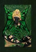 Mushrooms Digital Art - Green Fairy of Poison by KimiCookie Williams