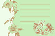 Dana Vogel Prints - Green Floral Card Print by Dana Vogel