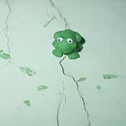 Toys Prints - Green frog Print by Bernard Jaubert