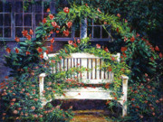 Benches Paintings - Green Gables by David Lloyd Glover