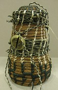 Indian Basket Sculptures - Green Gadget by Beth Lane Williams