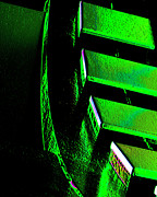 Digital Processing Prints - Green Gear Print by Adriano Pecchio