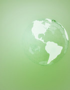 Cartography Digital Art - Green Globe Of The Americas by Jason Reed