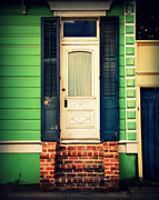French Door Prints - Green House Print by Perry Webster