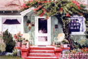 California Art - Green House Third Street Encinitas by Mary Helmreich