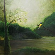 Forest Paintings - Green Jungle River by William Patterson