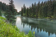 Rhodope Mountains Art - Green Lake by Evgeni Dinev