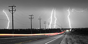 Lightning Strike Posters - Green Light Into the Storm Panorama Poster by James Bo Insogna