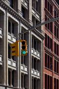 Traffic Sign Photos - Green Light by Robert Ullmann