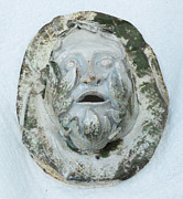 Ceramic Sculpture Ceramics - Green Man 3 by John Keasler