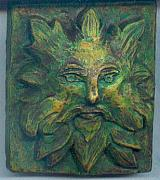 Fantasy Reliefs Originals - Green Man by Teresa Turner