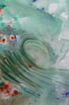 Surfing Art Paintings - Green Mist by Mateo Antonell