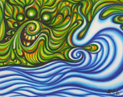 Green Monster Paintings - Green Monster by Irie Art