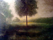 Monotone Paintings - Green Morning by Phil Rodriguez