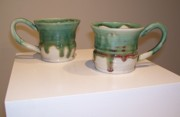 Mugs Ceramics - Green Mugs by Robyn Parrott