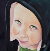 Green Munchkin Print by Joni McPherson