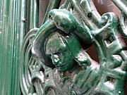 Door Knockers And Handles - Green Nobility M by Edan Chapman