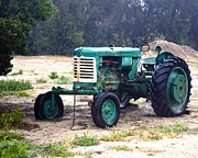 William Havle Art - Green Oliver Tractor by William Havle