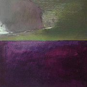 Modern Art Paintings - Green Over Violet by Iris Lehnhardt
