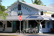Sign In Florida Photo Prints - Green Parrot Bar in Key West Print by Susanne Van Hulst