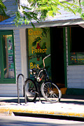 Green Parrot Prints - Green Parrot Bar Key West Print by Susanne Van Hulst