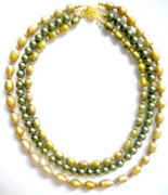Dark Jewelry - Green Pearls by Pat Stevens