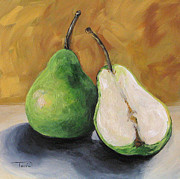 Pear Painting Acrylic Prints - Green Pears Acrylic Print by Torrie Smiley