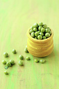 Food And Drink Art - Green Peas by Harini Prakash