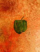 Pepper Mixed Media - Green Pepper by Paul Gaj