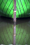 Wooden Ship Prints - Green Reflection Print by Heiko Koehrer-Wagner