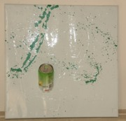 Action Reliefs - Green Repaint by Maria Anna Van Driel