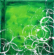 Cream Color Posters - Green Riches by MADART Poster by Megan Duncanson