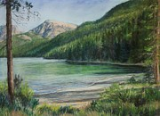 Area Pastels Prints - Green River Lake Print by Susan Driver