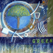 Collectible Art Paintings - Green by Rosalyn Stevenson