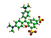 Standards Prints - Green S Food Colouring Molecule Print by Dr Mark J. Winter