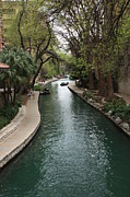 San Antonio River Walk Framed Prints - Green San Antonio River Framed Print by Carol Groenen
