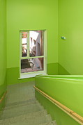 Grade School Prints - Green School Stairwell Print by Jaak Nilson