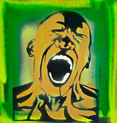 Dracula Paintings - Green Scream by Tony B Conscious