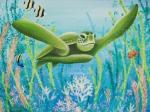 Green Sea Turtle Print by Barbara Eberhart - Printscapes