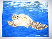 Green Sea Turtle Print by Jeff Lucas
