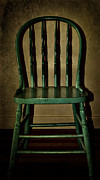 Abandonment Photo Framed Prints - Green Seat Framed Print by Larysa Luciw