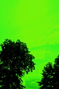 Modern Art Digital Art - Green Sky 1 by Mike Grubb