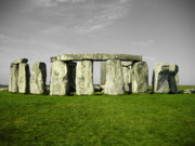 Canadian Prints Posters - Green Stonehenge Poster by Kamil Swiatek
