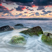 Twilight Prints - Green Stones Print by Evgeni Dinev