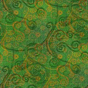 Moignard Prints - Green Tapestry  Print by Barbara Moignard