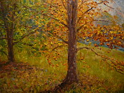 Impressionist Paintings - Green Turns To Gold by Terry Perham