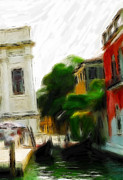 Reflection Pastels Prints - Green Venice Print by Stefan Kuhn