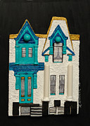 Robert Handler Prints - Green Victorian Mansion-Montreal Print by Robert Handler