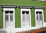 Puerto Rico Art - Green Walls in San Juan by John Rizzuto